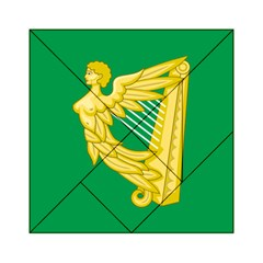 The Green Harp Flag Of Ireland (1642 1916) Acrylic Tangram Puzzle (6  X 6 )