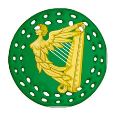The Green Harp Flag of Ireland (1642-1916) Ornament (Round Filigree)