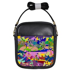 Shapes in retro colors              Girls Sling Bag