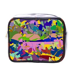 Shapes in retro colors              Mini Toiletries Bag (One Side)