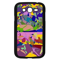 Shapes in retro colors        Samsung Galaxy S4 I9500/ I9505 Case (Black)