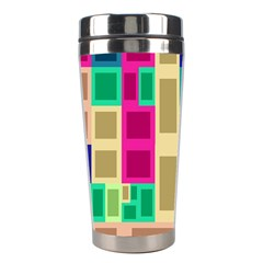 Rectangles And Squares              Stainless Steel Travel Tumbler
