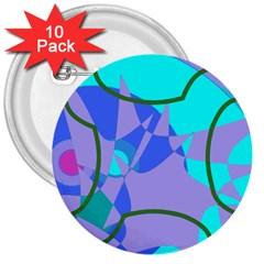 Purple blue shapes              3  Button (10 pack)