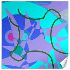 Purple blue shapes              Canvas 20  x 20