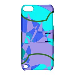 Purple blue shapes        Apple iPhone 5 Hardshell Case with Stand
