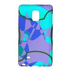 Purple blue shapes        Samsung Galaxy Note 4 Leather Folio