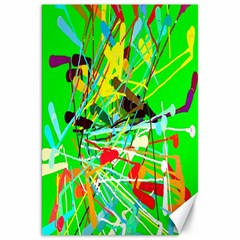 Colorful painting on a green background              Canvas 20  x 30
