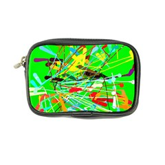 Colorful painting on a green background         Coin Purse