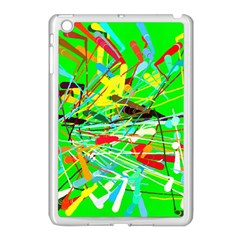 Colorful painting on a green background        Apple iPad Mini Case (Black)