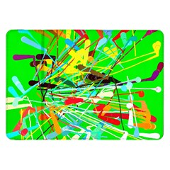 Colorful painting on a green background        Samsung Galaxy Tab 10.1  P7500 Flip Case