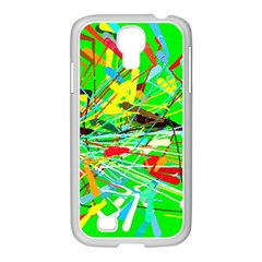 Colorful painting on a green background        Samsung Galaxy Note 2 Case (White)