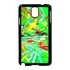 Colorful painting on a green background        Samsung Galaxy S5 Back Case (White)