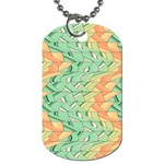 Emerald And Salmon Pattern Dog Tag (Two Sides) Front