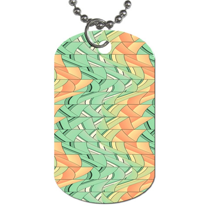 Emerald And Salmon Pattern Dog Tag (Two Sides)