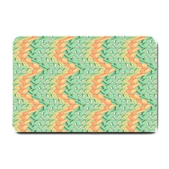 Emerald And Salmon Pattern Small Doormat