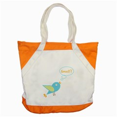 Cute Tweet Accent Tote Bag