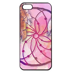 Watercolor Cute Dreamcatcher With Feathers Background Apple Iphone 5 Seamless Case (black)
