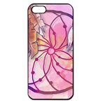 Watercolor cute dreamcatcher with feathers background Apple iPhone 5 Seamless Case (Black) Front