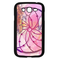 Watercolor cute dreamcatcher with feathers background Samsung Galaxy Grand DUOS I9082 Case (Black)