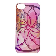 Watercolor cute dreamcatcher with feathers background Apple iPhone 5S/ SE Hardshell Case