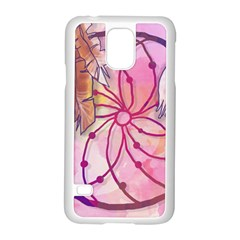 Watercolor Cute Dreamcatcher With Feathers Background Samsung Galaxy S5 Case (white)