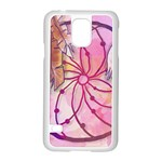 Watercolor cute dreamcatcher with feathers background Samsung Galaxy S5 Case (White) Front