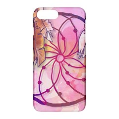 Watercolor Cute Dreamcatcher With Feathers Background Apple Iphone 7 Plus Hardshell Case