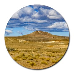 Patagonian Landscape Scene, Argentina Round Mousepads