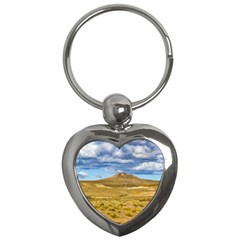 Patagonian Landscape Scene, Argentina Key Chains (Heart)