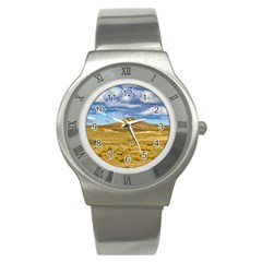 Patagonian Landscape Scene, Argentina Stainless Steel Watch