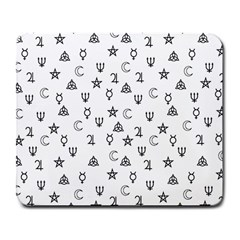 Witchcraft symbols  Large Mousepads