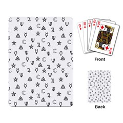 Witchcraft symbols  Playing Card