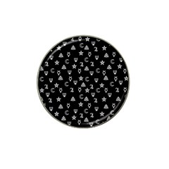 Witchcraft symbols  Hat Clip Ball Marker (4 pack)