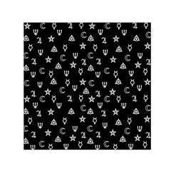 Witchcraft symbols  Small Satin Scarf (Square)