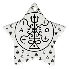 Witchcraft symbols  Star Ornament (Two Sides)