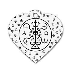 Witchcraft symbols  Dog Tag Heart (Two Sides)