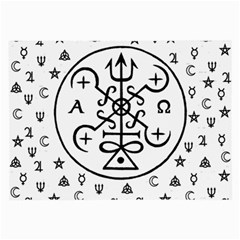 Witchcraft symbols  Large Glasses Cloth (2-Side)