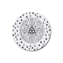 Witchcraft symbols  Rubber Round Coaster (4 pack)