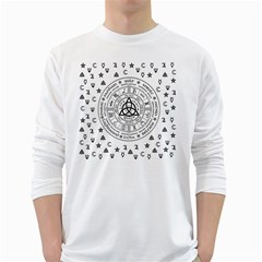 Witchcraft symbols  White Long Sleeve T-Shirts