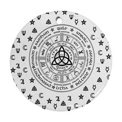 Witchcraft symbols  Round Ornament (Two Sides)