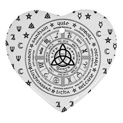 Witchcraft symbols  Heart Ornament (Two Sides)