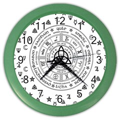Witchcraft symbols  Color Wall Clocks