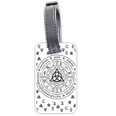 Witchcraft symbols  Luggage Tags (One Side)