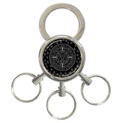 Witchcraft symbols  3-Ring Key Chains