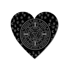 Witchcraft symbols  Heart Magnet