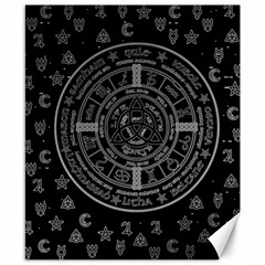 Witchcraft symbols  Canvas 8  x 10