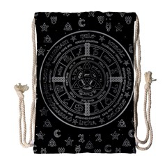 Witchcraft symbols  Drawstring Bag (Large)
