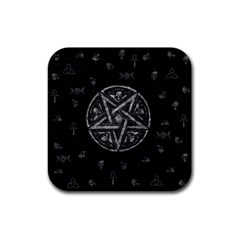 Witchcraft symbols  Rubber Square Coaster (4 pack)