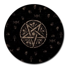 Witchcraft symbols  Round Mousepads