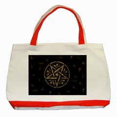 Witchcraft symbols  Classic Tote Bag (Red)